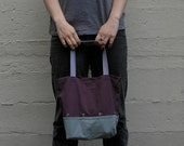 Double-Decker Knitting Bag - Modern Colorblock Project Tote