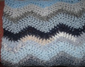 Shades of Blue Baby Afghan