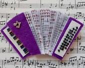 Purple Accordion brooch