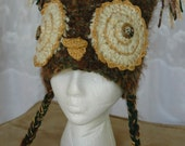 What a hoot. Adult size owl hat, made and designed by Katherine Florimbio,