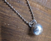 Kettlebell Charm Pewter on a ball chain