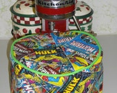 Stand mixer bowl cover/ cozy, Marvel Comic book covers, 5 quart bowl