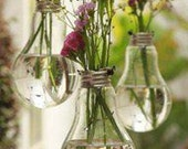 Recycled lightbulbs perfect for flowers or candles