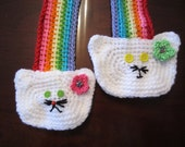 CAT RAINBOW SCARF. Unique gift For cat Lover. Perfect for Child and Adult.