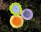 Three Face Scrubbies. Eco friendly cotton face scrubbies/makeup removers.
