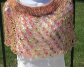 Crochet Cape/Shawl/Poncho for All Seasons. For girl or small woman.