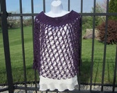 Crochet Purple Cape / Shawl.