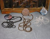 24 inch ball chain necklaces - shiny silver, copper or gunmetal - 2.4mm