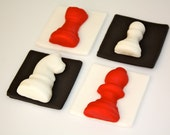CHESS LOVER TWILIGHT Fans -  Fondant Cupcake, and Cookie Toppers - 1 Dozen