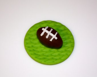 FOOTBALL SPORTS FAN  -  Fondant Cupcake, and Cookie Toppers - 1 Dozen