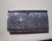 Embellished Black Wallet/Clutch