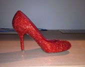Ruby Red Crystallized High Heels