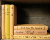 Instant Collection Vintage Books, Warm Golden Brown Color, Photography Prop, Retro Style, Old Novels