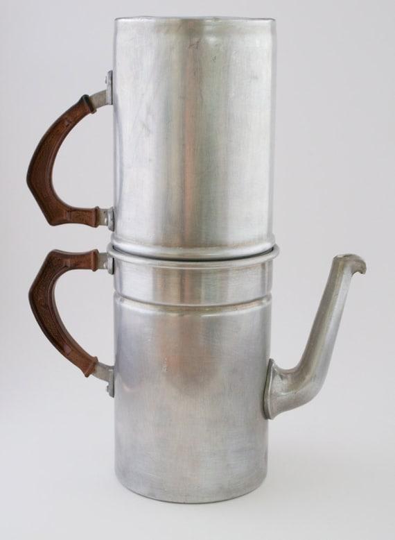 Vintage Coffee Pot Rex 5 Cup Aluminum Italy