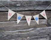 CLEARANCE Olympics Patriotic USA Red, White, and Blue Rosette Bunting/Banner