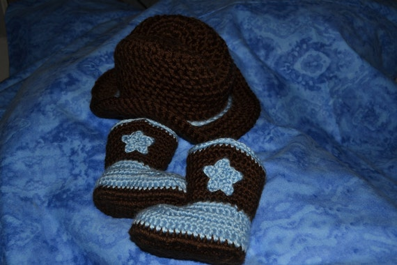 Baby Cowboy Hat and Boot Set