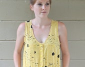 Yellow & Black Paint Splatter Romper with Pockets