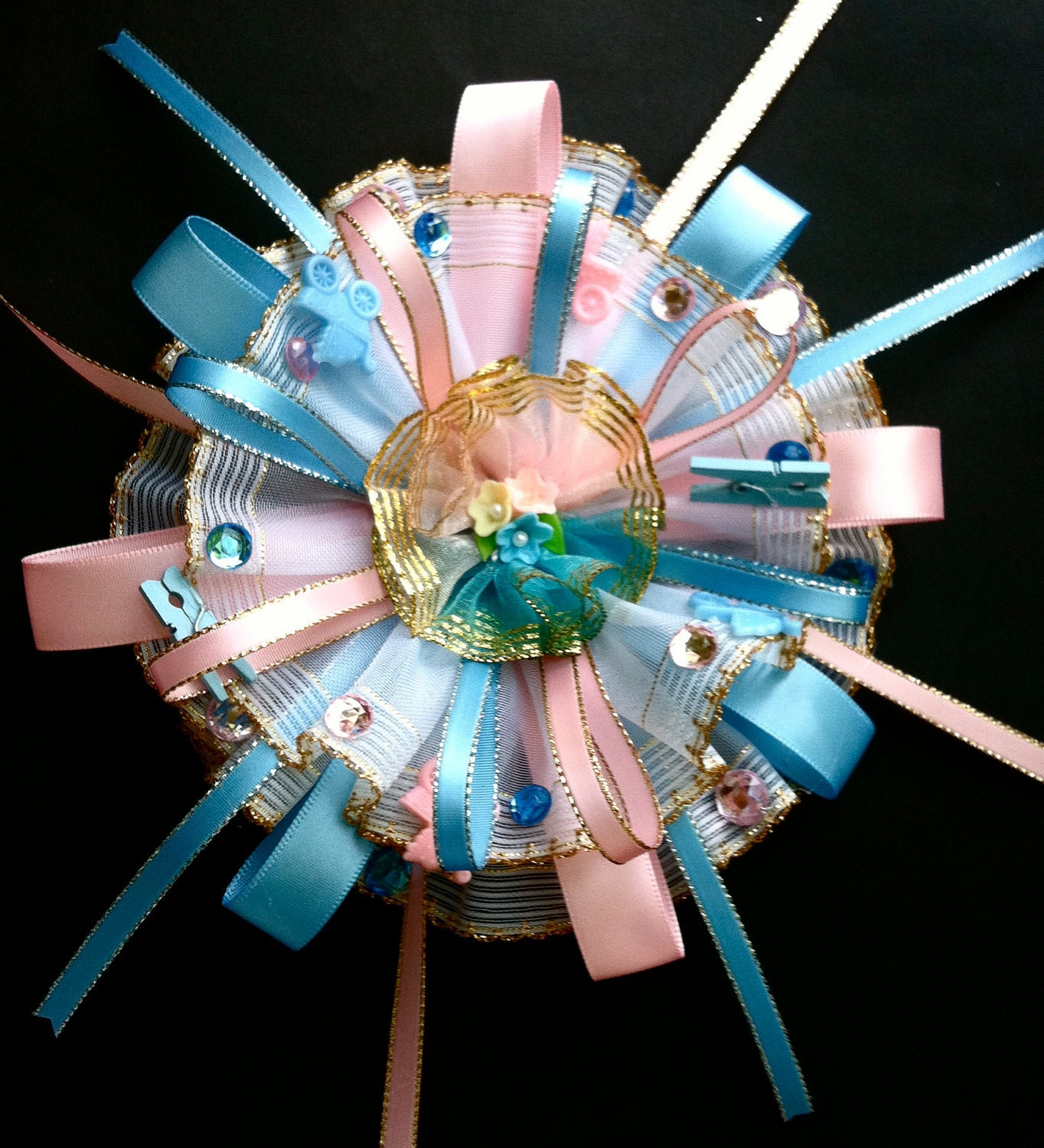 similar to baby shower corsage pink and blue mom to be corsage baby