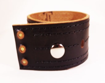 Reclaimed Genuine Leather Cuff by David Acevedo