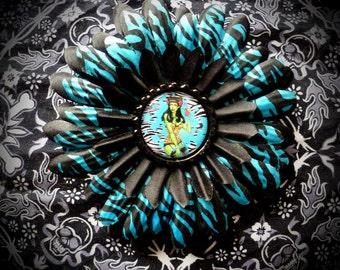 Rockabilly Zombie hair flower