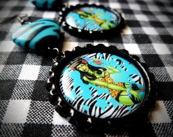 Rockabilly Zombie earrings