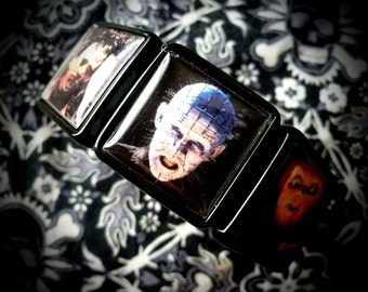 Modern Horror collage bracelet