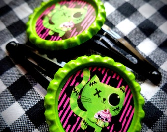 Zombie Cat hair clips