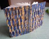Blue and Golden Yellow Blank Coptic Book