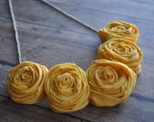 Rosette necklace. choose your color.