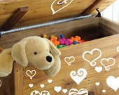 StickTak Stickers Medium Cute Love Hearts Vinyl Sticker Wall Art Girls Decal