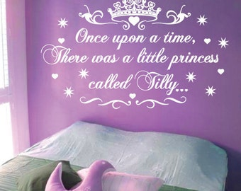 StickTak Stickers Little Princess Nursery Vinyl Rhyme Wall Art Sticker Decal Children Kids