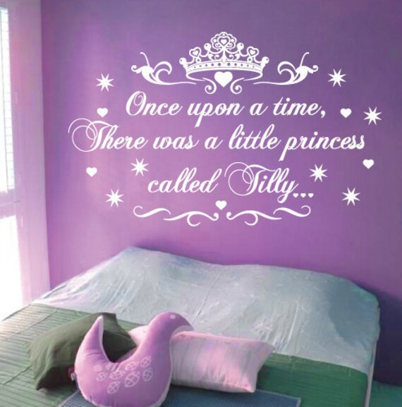 Sticktak stickers little princess nursery vinyl rhyme wall art for Homebase design your own bedroom