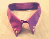 Retro Style Bright Purple Gold Studded Collar Choker Necklace