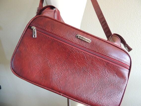 Vintage Burgundy Samsonite Overnight Bag or Purse
