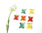 Ceramic Butterflies, Mosaic Tiles, 7 Colorful Pieces