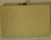 JR Purse Faux Pearls Female Adult Clutch Cream Pearls 25-26-9r
