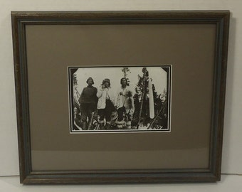 Custom Made Framed Matted Photograph 14in x 12in x 1in Vintage Glass Paper