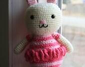 Ballerina Bunny Amigurumi crocheted toy