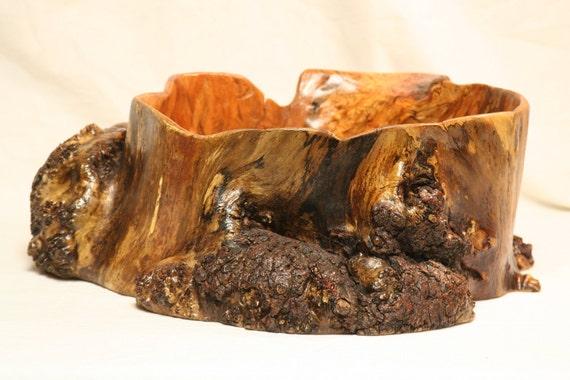 Large rustic hand carved wood bowl maple burl by devindecker