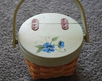 Blue Violet Basket