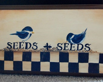 Seeds Seeds Bird Plaque