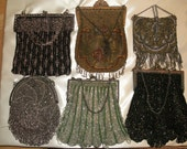 Antique Beaded Purse Collection - Mounted and Framed
