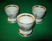 Three (3) Porcelain Egg Cups by Winterling of Bavaria, Germany