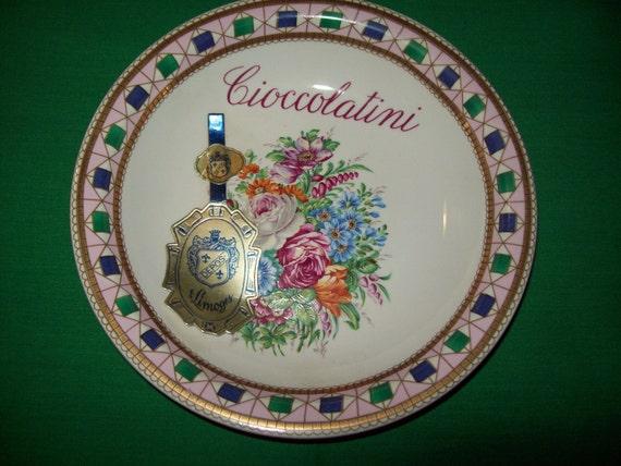 One (1), T. Limoges, Depos  Italian Decorated Porcelain, Cioccoolatini Bowl, Original Tag Attached.