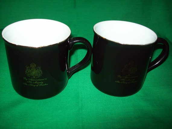 Two (2),  Gevalia Kaffe Mugs, By Appointment To His Majesty, The King of Sweden.