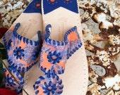 Orange and Blue Hue Sandal