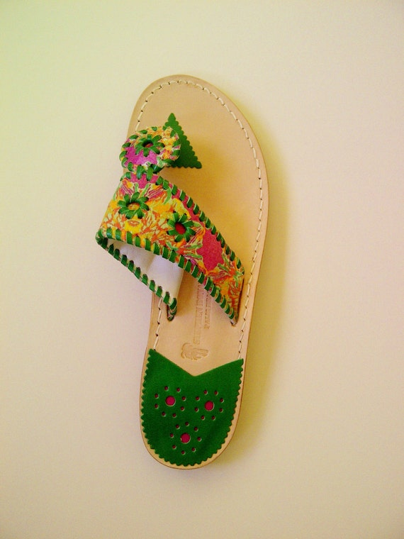 Pink and GREEN Sole Sandal