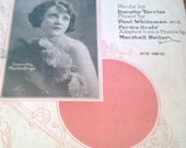 Wonderful One sheet music 1923
