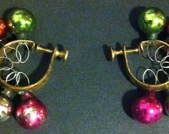 Christmas ornament ball earrings