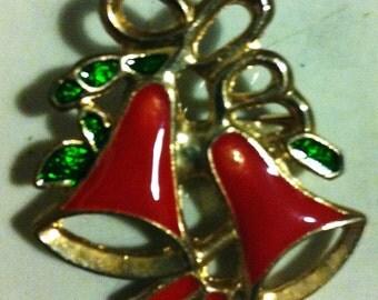 Christmas bells pin